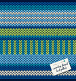 colorful knitted striped seamless pattern vector image