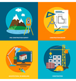Conceptual icon set for construction in flat style vector image