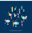 Corporate Party Concept vector image vector image