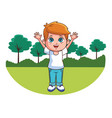 cute child cartoon vector image