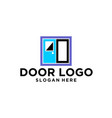 door logo design vector image