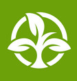 eco logo with leaves vector image