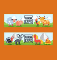 farm animals domestic farming animalistic vector image vector image