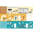 First Aid Diagnostics Ambulance flat hospital vector image