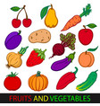 fruits and vegetables set flat images vector image vector image