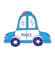 full color emergency police car transport with vector image vector image