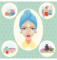Girl at spa treatments vector image vector image
