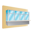 glazing of balconies icon vector image