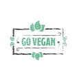Go vegan Organic food engraved icon vector image