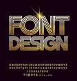 golden luxury font design vector image vector image