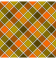 Green orange diagonal check plaid seamless pattern vector image vector image
