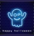 halloween neon banner vector image vector image