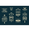 Happy Father s Day Design Collection In Retro vector image vector image