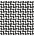 Houndstooth seamless black and white pattern vector image vector image