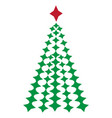 image of a christmas tree vector image vector image