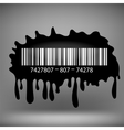 Ink Blot with Barcode vector image vector image