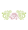 Lotus sketch Plant motif Flower design elements vector image
