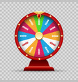 luck wheel of fortune vector image vector image