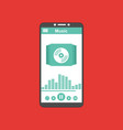 media player application app template with flat vector image