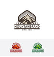 mountain brand logo vector image