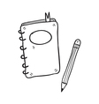 notebook and pencil hand drawn vector image vector image
