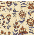 Ornamental floral color pattern vector image vector image