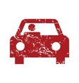 Red grunge car logo vector image