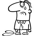 Sad man on valentines day cartoon