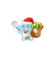 santa surgery mask cartoon with sacks gifts vector image vector image