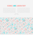 science and laboratory concept vector image vector image
