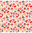 seamless texture santa claus with gifts tree vector image
