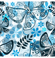 Seamless white floral pattern vector image