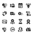 set business icons such as like calendar vector image vector image