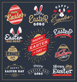 set easter day typography badge and labels vector image vector image
