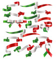 set italian or mexican ribbons vector image
