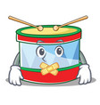 silent toy drum character cartoon vector image vector image