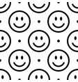 smile icon pattern happy faces on white vector image vector image