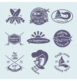 Surfing labels set vector image vector image