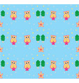 sweet owls background vector image