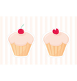 Sweet retro muffin cupcakes silhouettes vector image vector image