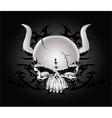 Tribal skull design vector image