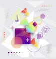 various geometric shapes set of vector image