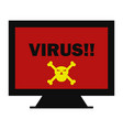 virus icon vector image vector image