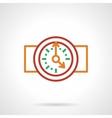 Color simple line wall clock icon vector image
