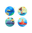 water sport icon set vector image