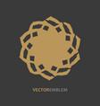 abstract star emblem vector image