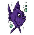 aquarium fish silhouette vector image vector image