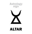 astrology altar vector image vector image