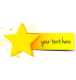 Banner design with stars and yellow tag vector image vector image
