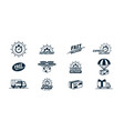 big delivery related monochrome icons set logos vector image vector image